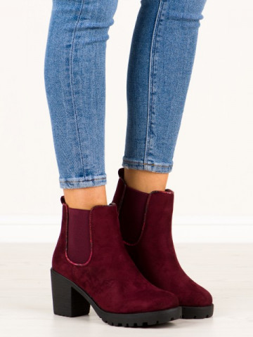 Botine cod M10-7 Wine Red