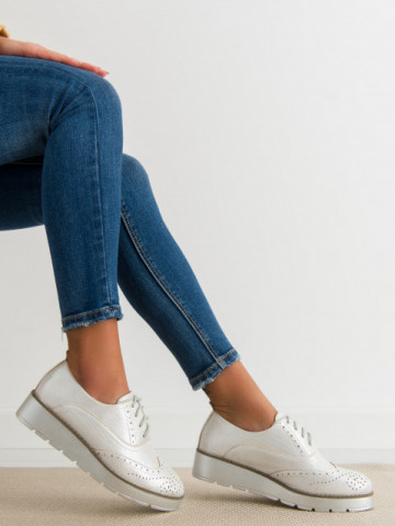 Pantofi casual cod T60 Silver