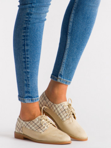 Pantofi casual cod WG0046 Beige