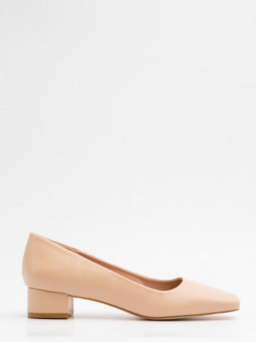 Pantofi cu toc cod A21-610 Beige