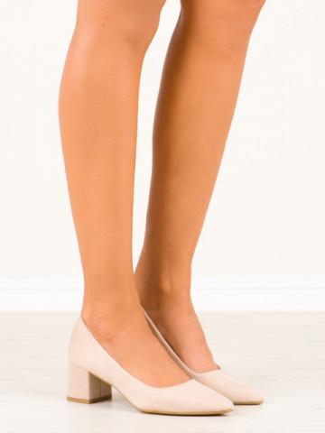 Pantofi cu toc cod CC210 Beige