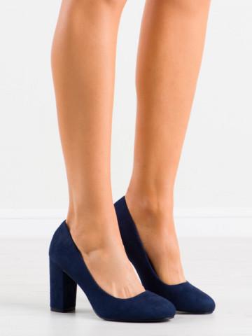 Pantofi cu toc cod E08-10 Blue