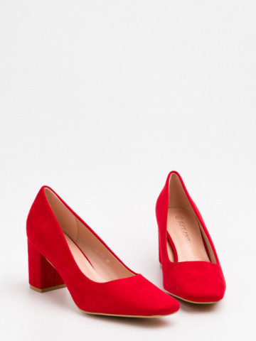 Pantofi cu toc cod X21-731 Red