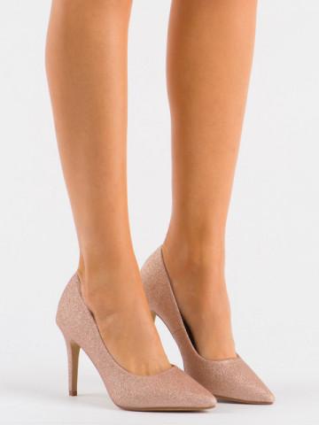 Pantofi cu toc cod XKK250A Champagne