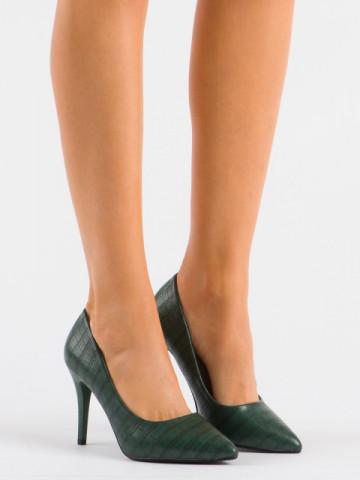Pantofi cu toc cod XQ260 Green