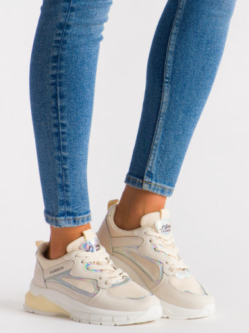 Pantofi sport cod 5822 Beige