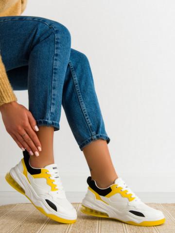 Pantofi sport cod AB01 White/Yellow