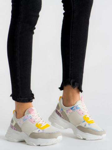 Pantofi sport cod ABC-293 White/Pink