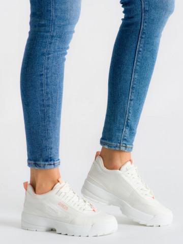 Pantofi sport cod ABC-305 White/Pink