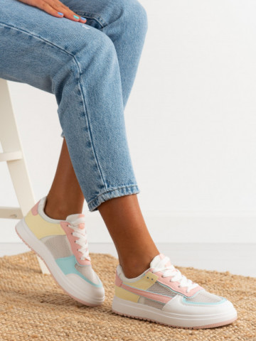 Pantofi sport cod AJ802 White/Pink