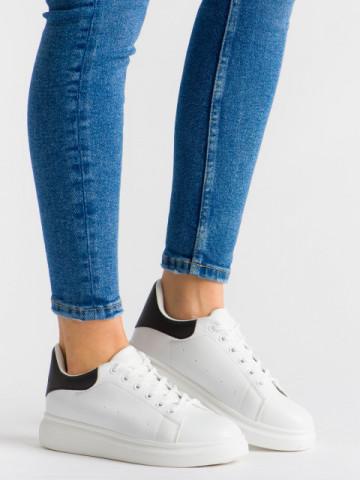 Pantofi sport cod B80 White/Black