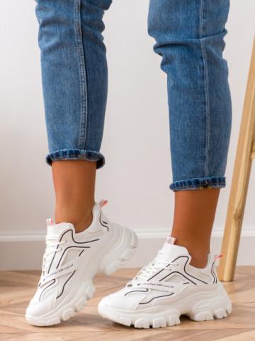 Pantofi sport cod BK06 White