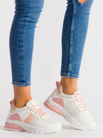 Pantofi sport cod BM-586 White/Pink