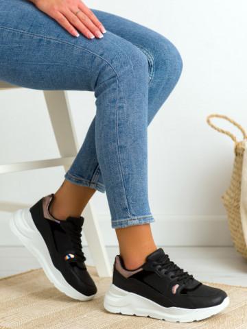 Pantofi sport cod BO505 White/Black