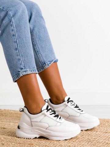 Pantofi sport cod BO563 White/Black