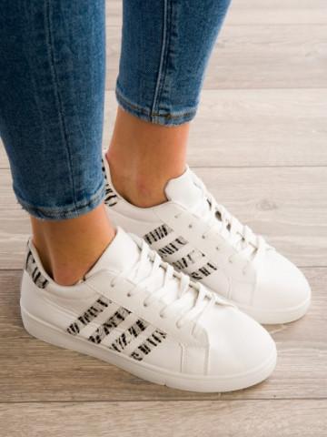 Pantofi sport cod C1817 White/ Tiger