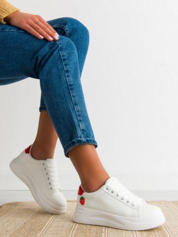 Pantofi sport cod C52 White/Red