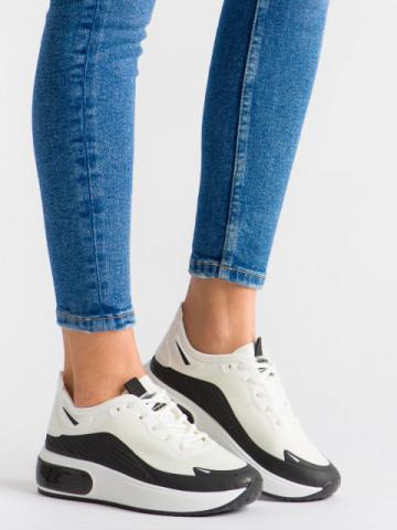 Pantofi sport cod CRYD-1 White/Black