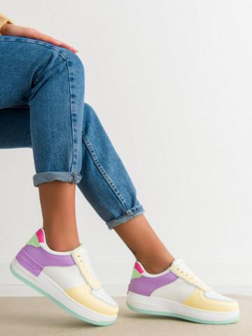 Pantofi sport cod HY626-12 Yellow/Purple