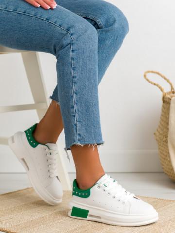 Pantofi sport cod SC36 White/Green