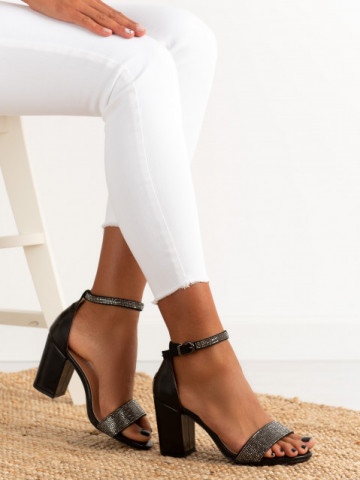 Sandale cu toc cod 1478 Black