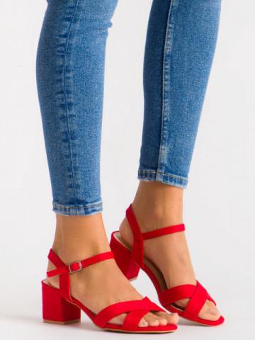 Sandale cu toc cod 3R47-11 Red