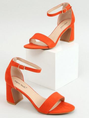 Sandale cu toc cod 8741 Orange