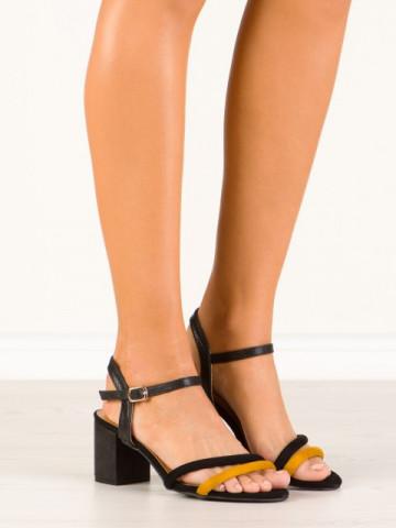 Sandale cu toc cod CS53 Yellow