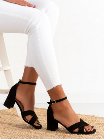 Sandale cu toc cod GG100 Black