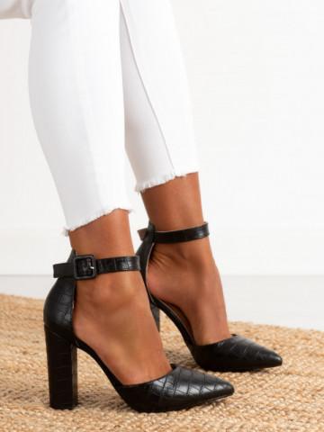 Sandale cu toc cod GG90 Black