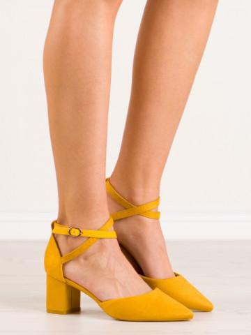 Sandale cu toc cod LE063 Yellow