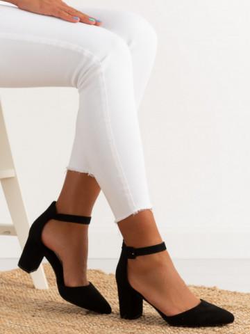 Sandale cu toc cod LL216 Black
