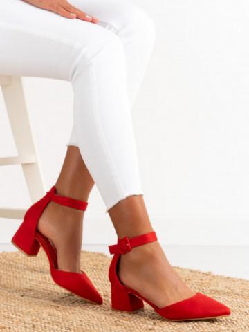 Sandale cu toc cod LL76 Red