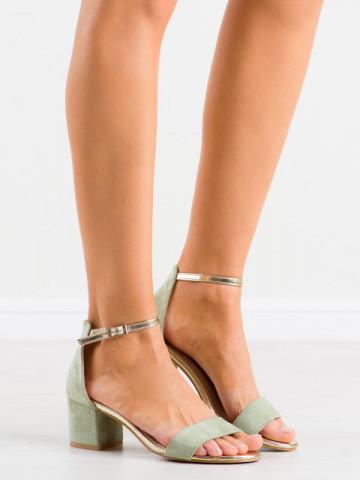 Sandale cu toc cod M307 Green