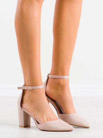 Sandale cu toc cod NC1007 Beige