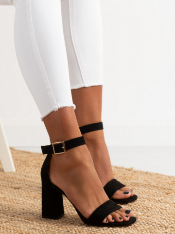 Sandale cu toc cod OD0227 Black
