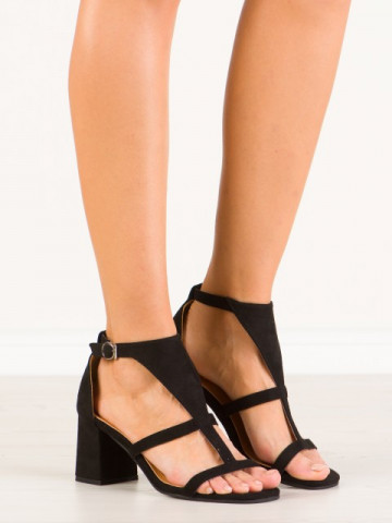 Sandale cu toc cod SH772 Black