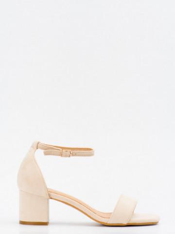 Sandale cu toc cod SK73 Beige