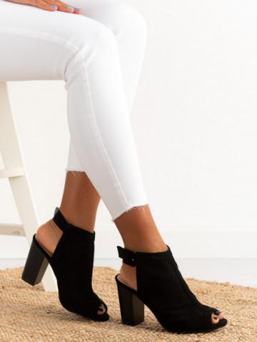 Sandale cu toc cod X150 Black