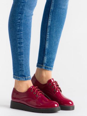 Pantofi casual cod EK0091 Wine Red