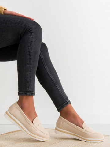 Pantofi casual cod 1151 Beige