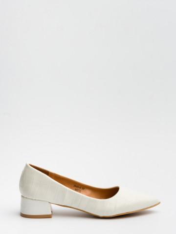 Pantofi cu toc cod 3845-4 White