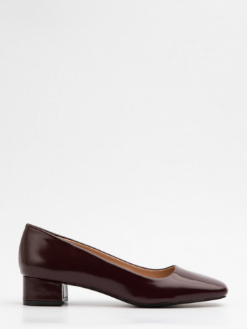 Pantofi cu toc cod A21-611 Wine