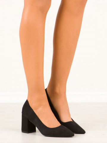 Pantofi cu toc cod CC208 Black