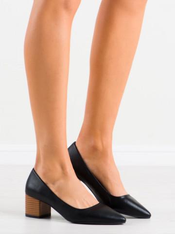 Pantofi cu toc cod CL76 Black