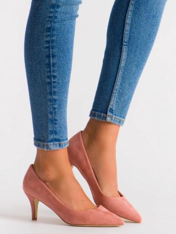 Pantofi cu toc cod EK0501 Pink