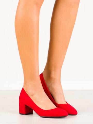 Pantofi cu toc cod LL181 Red