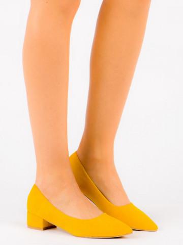 Pantofi cu toc cod LU0013 Yellow