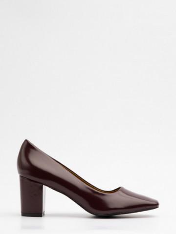Pantofi cu toc cod X21-732 Wine