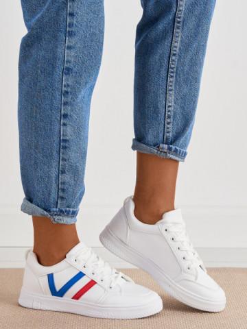 Pantofi sport cod 1210-7 White/Blue